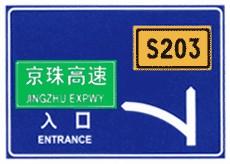 城口道路指路牌